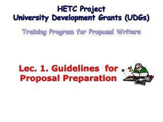 Lec. 1. Guidelines  for Proposal Preparation