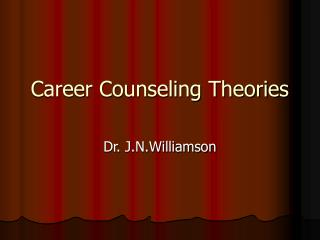 Career Counseling Theories