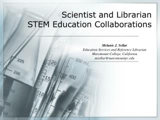 Scientist and Librarian  STEM Education Collaborations