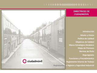 DIRECTRICES DE CIUDADMOVIL