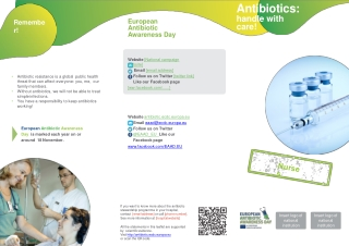 Microbiology, Infections, and Antibiotic Therapy
