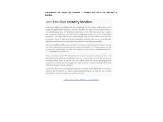 Construction Security London