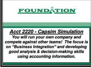 Acct 2220 - Capsim Simulation