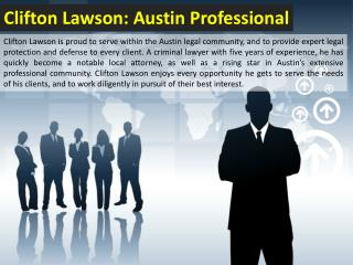 Clifton Lawson: Austin Professional