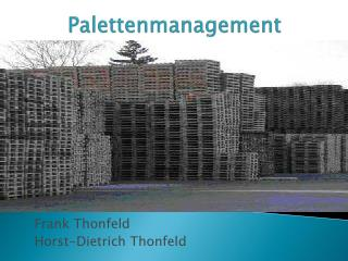 Palettenmanagement