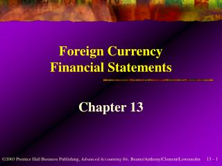 Foreign Currency Financial Statements