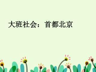 大班社会:首都北京