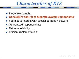 Characteristics of RTS