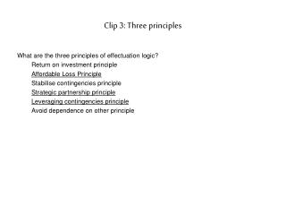 Clip 3: Three principles