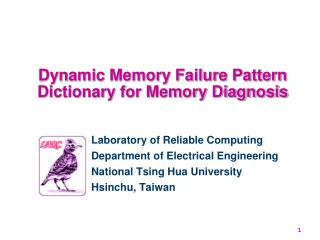Dynamic Memory Failure Pattern Dictionary for Memory Diagnosis