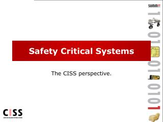 Safety Critical Systems