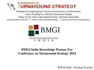 BMGI India Knowledge Partner For Conference on Turnaround St