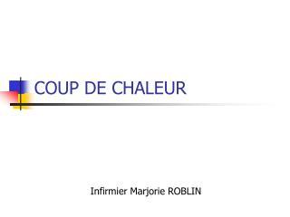 COUP DE CHALEUR