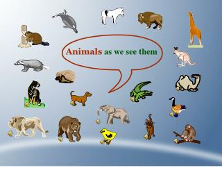 Animals as we see them