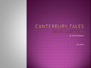 Canterbury tales nun's priest tale