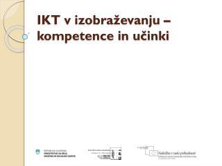 IKT v izobraževanju – kompetence in učinki