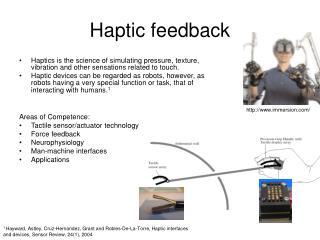 Haptic feedback