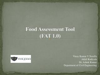 Food Assessment Tool FAT 1.0