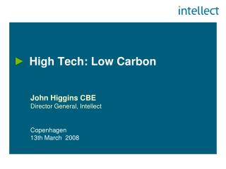 High Tech: Low Carbon