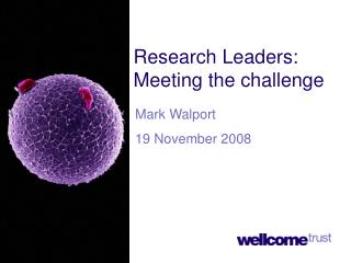 Research Leaders: Meeting the challenge