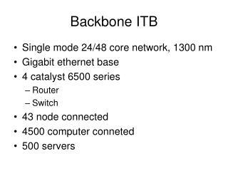 Backbone ITB