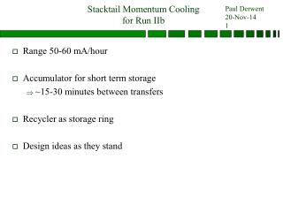 Stacktail Momentum Cooling  for Run IIb