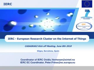 IERC - European Research Cluster on the Internet of Things