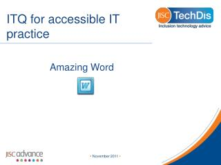 ITQ for accessible IT practice