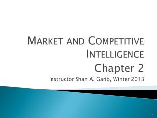 Market and Competitive Intelligence