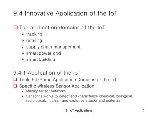 9.4 Innovative Application of the IoT