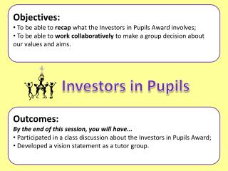 Objectives:  To be able to  recap  what the Investors in Pupils Award involves;