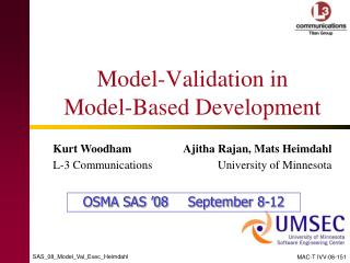 Model-Validation in  Model-Based Development