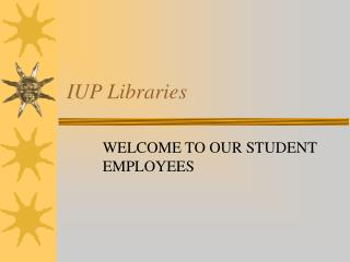 IUP Libraries