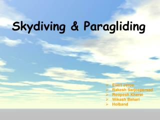 Skydiving & Paragliding