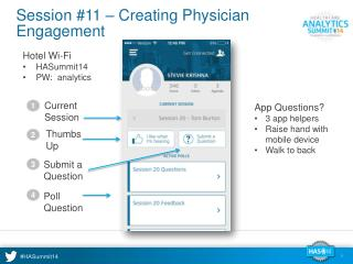 Session #11 – Creating Physician Engagement