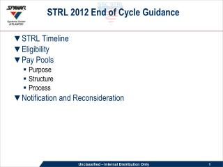 STRL 2012 End of Cycle Guidance