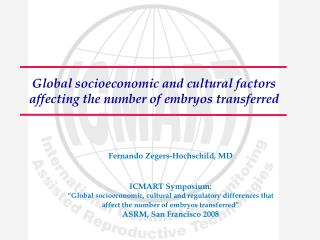 Global socioeconomic and cultural factors affecting the number of embryos transferred
