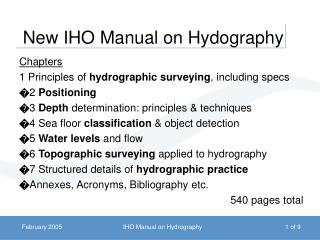 New IHO Manual on Hydography