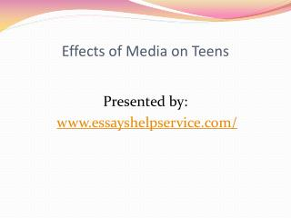Effects of Media on Teens