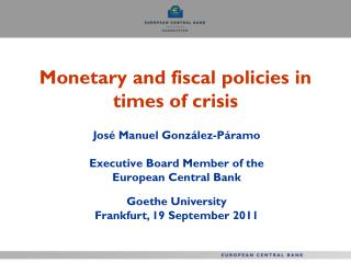 Monetary and fiscal policies in times of crisis