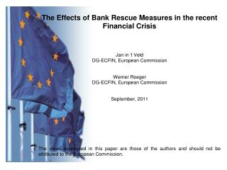 1. Standard fiscal measures and bank rescue measures