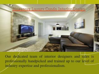 Interior Design For Condo In Singapore