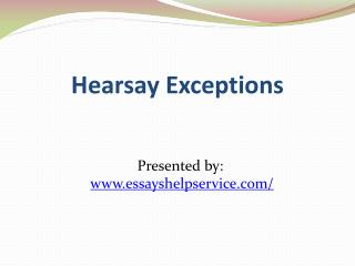 chapter 2 hearsay exceptions