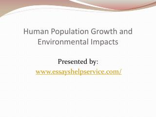 Human Population Growth and Development