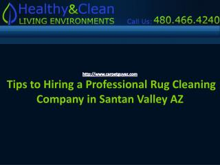 Hring a professional Rug Cleaning company Santan Valley AZ