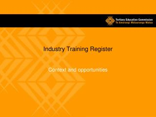 Industry Training Register