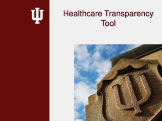 Healthcare Transparency  Tool