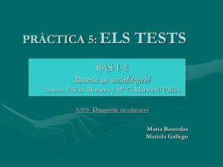 PR�CTICA 5: ELS TESTS