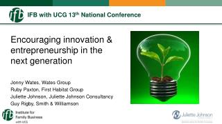 IFB with UCG 13 th  National Conference