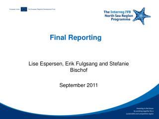Final Reporting